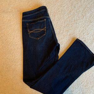 Dark wash boot cut A&F jeans